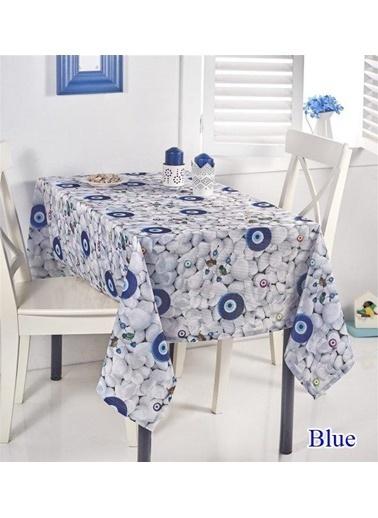 Lady Moda Lady Moda Rashel Masa Örtüsü 150x150 cm - Blue Renkli